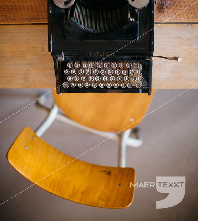 MaerTexxT typemachine stoel